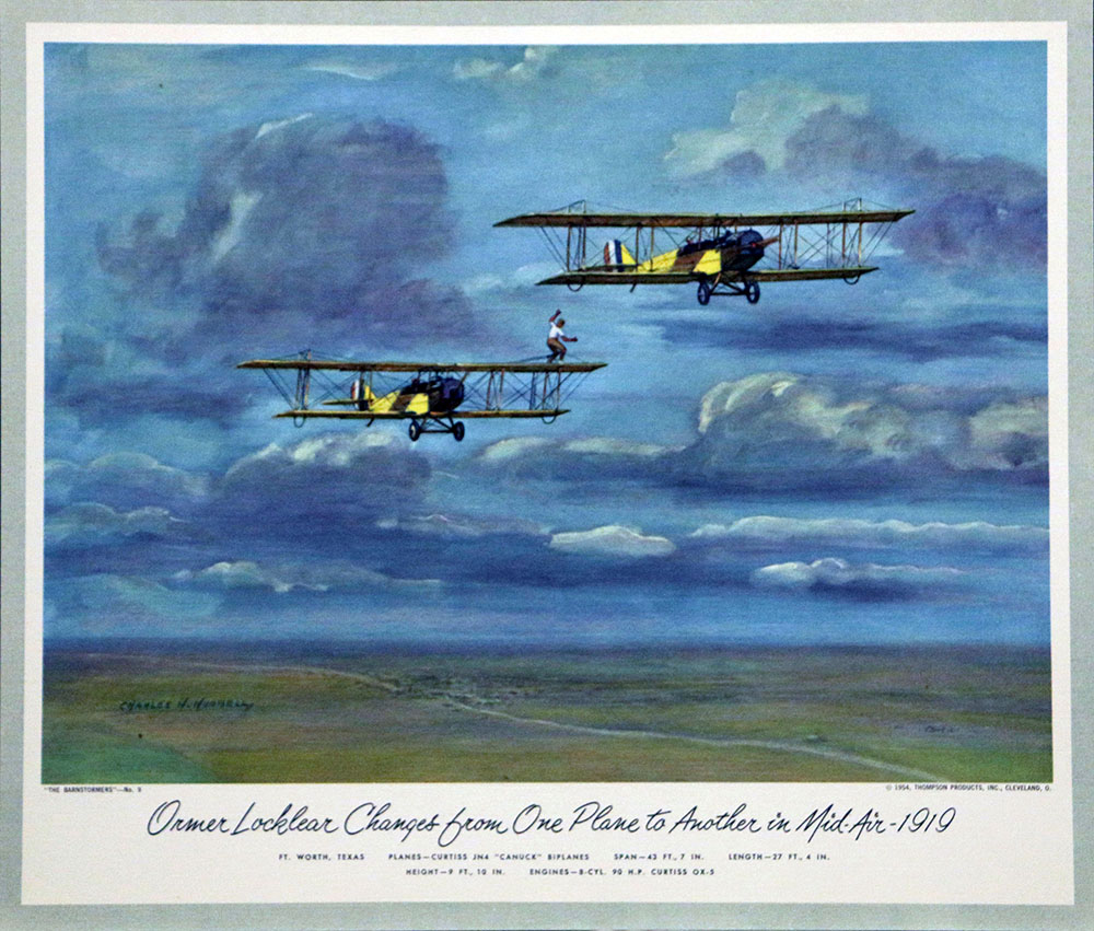 1954 – Barnstormers | Charles Hubbell Aviation Prints
